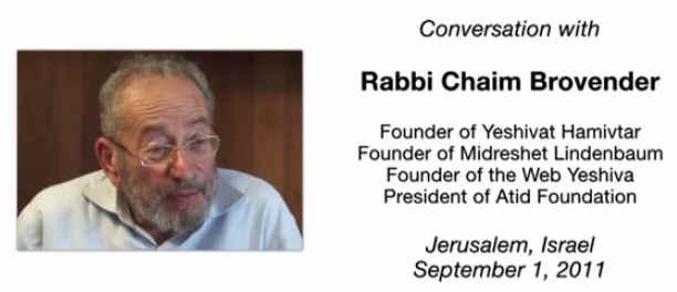 Rabbi Brovender