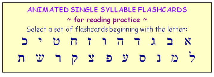 Single syllable flashcards