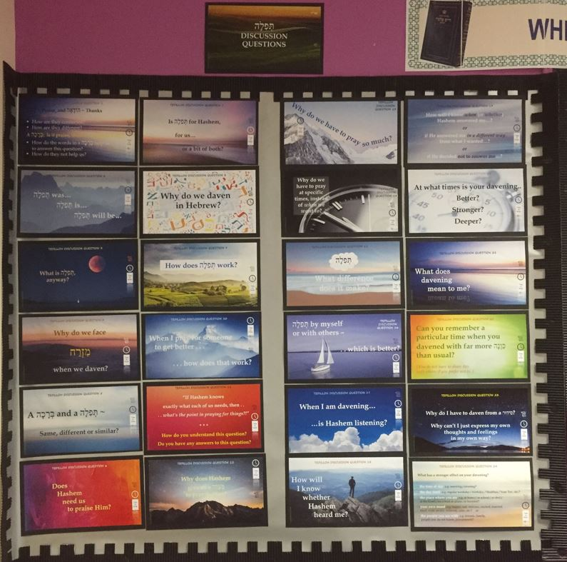Yr.6 Tefilloh Words Display, Discussion Questions
